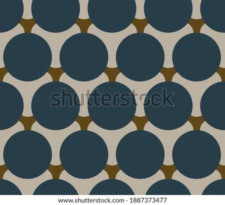 Elegant masculin pattern manly design crosshatch circles minimal monochrome motif. Small patch wax printing block for apparel textile, ladies dress fabric, mens wear, swimwear, fashion garment, wrap. Stockfoto ©
