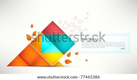 elegant message frame  envelope