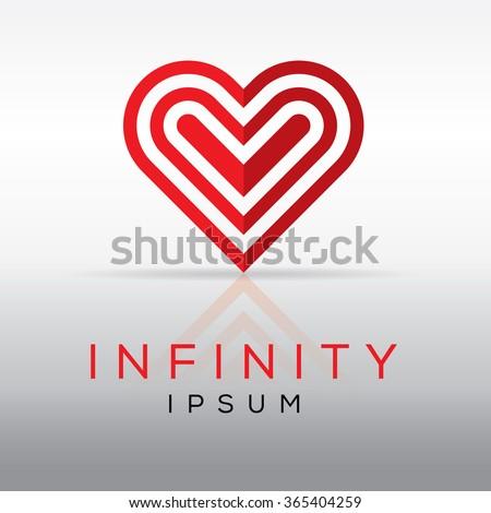 elegant minimal heart symbol