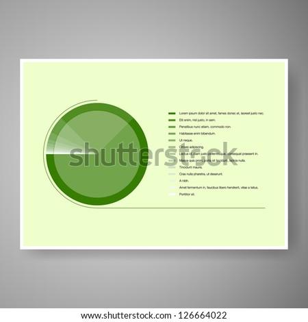 Elegant minimal infographic design vector