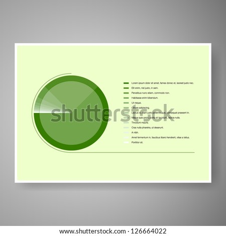Elegant minimal infographic design vector - stock vector