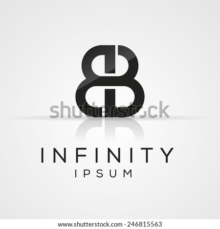Elegant minimal letter symbol. Alphabet B logo design. Vector illustration. Stock fotó ©
