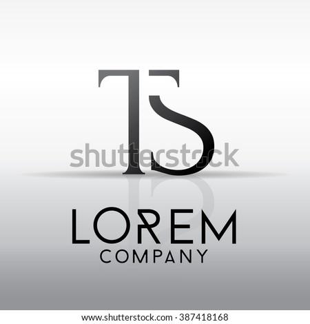 Elegant minimal letter symbol. Alphabet T and S logo design. Vector illustration Stock fotó ©