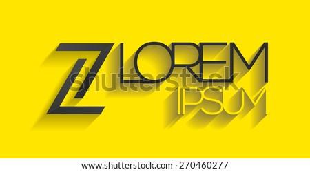 elegant minimal letter symbol