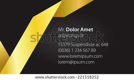 Elegant minimal style corporate identity template. Business card. Vector illustration. #221518252