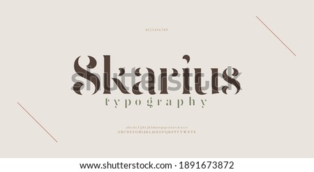 Elegant modern alphabet letters font. Classic Lettering Minimal Fashion Designs. Typography modern serif fonts regular decorative vintage concept. vector illustration Foto d'archivio ©
