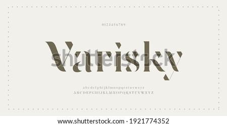 Elegant modern alphabet letters font. Classic Lettering Minimal Fashion Designs. Typography modern serif fonts regular decorative vintage concept. vector illustration