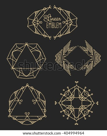 Elegant monogram design. Vector linear frame and logo template. Trendy and calligraphic elegant ornament elements. Identity design
