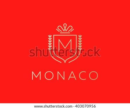 elegant monogram letter m