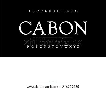 Elegant movie alphabet font. Typography classic style silver font set for logo, Poster, Invitation. vector illustrator