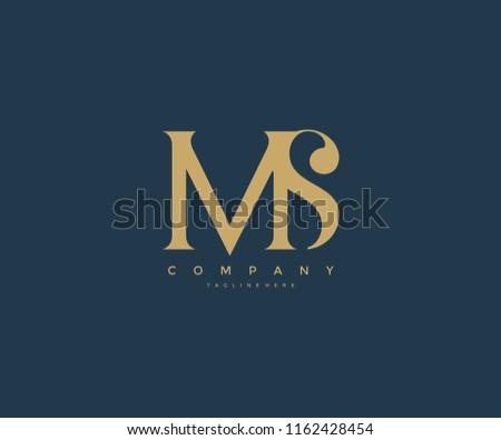 Elegant MS Letter Linked Monogram Logo Design