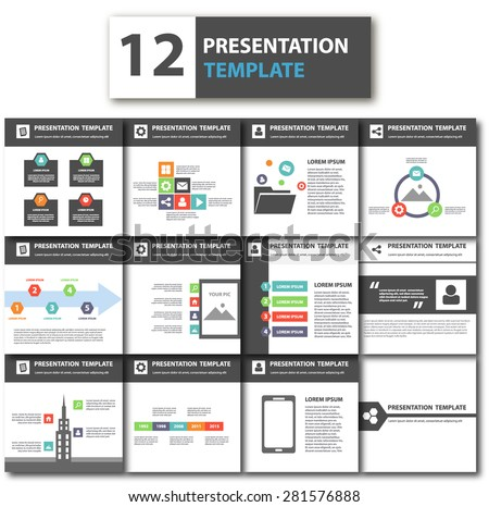 Elegant Multipurpose Business Presentation Template Brochure Flyer Design  Set
