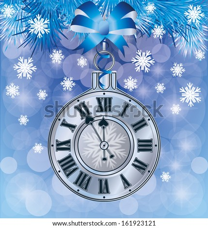 elegant new years card  vector