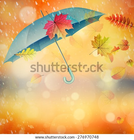 elegant opened umbrella with
