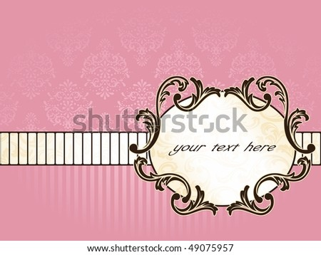 Elegant oval French vintage label, horizontal (Eps10); JPG version also available