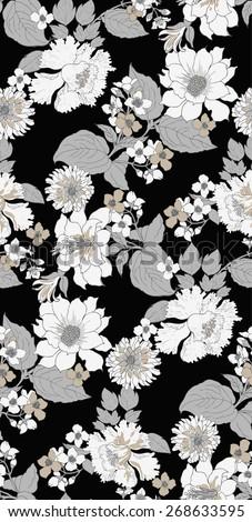 elegant peony seamless floral