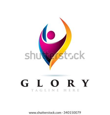 Elegant People icon Logotype Elements