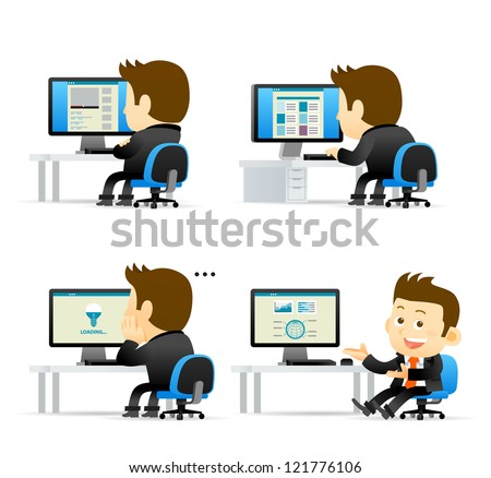 Elegant People Series -Businessman at computer