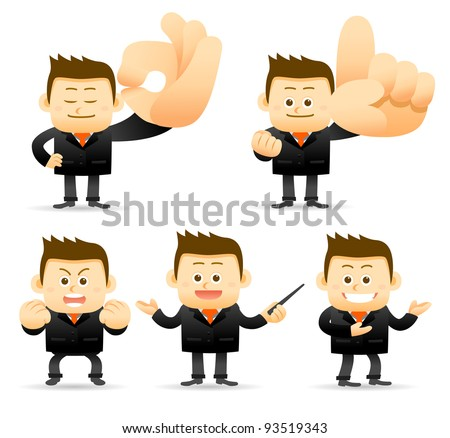 Elegant People Series | Businessman showing ok,NO.1,good,teaching,demo  hand sign