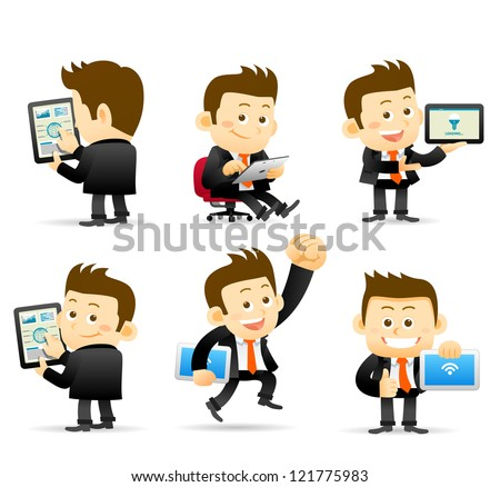 Elegant People Series -Businessman & tablet pc