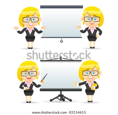 Elegant People Series | Businesswoman giving presentation
