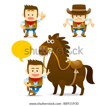 Elegant People Series | cowboy , horse collection
