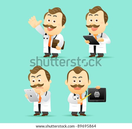 Elegant People Series | Doctor with Tablet PC set