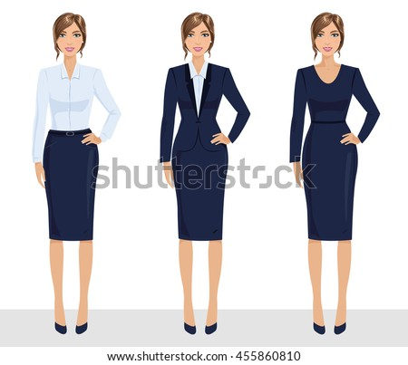 elegant pretty business woman