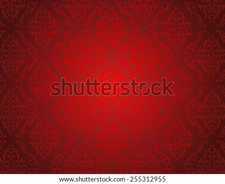 elegant red shiny damask