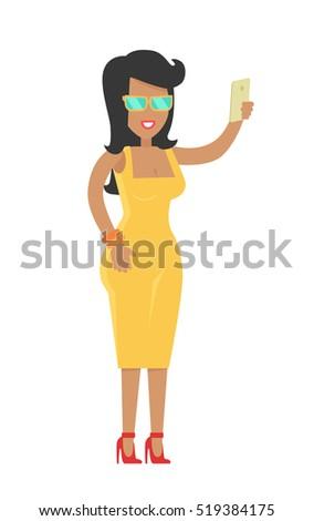 elegant rich brunette woman in