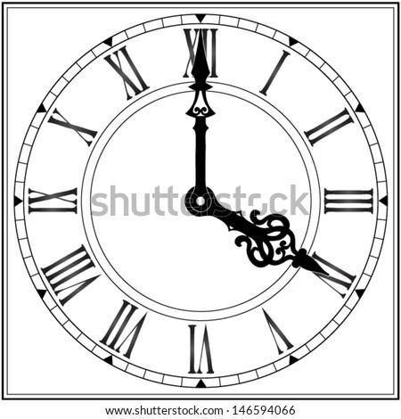 elegant roman numeral clock  ...