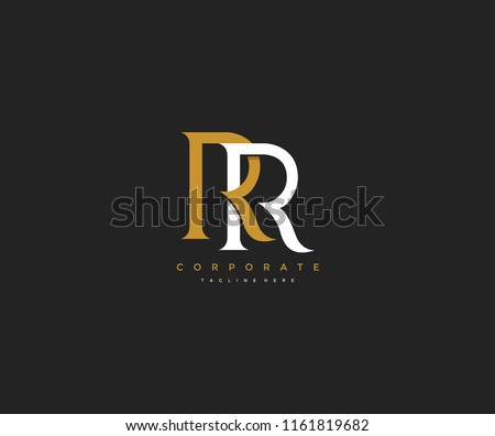 Elegant RR Letter Linked Monogram Logo Design