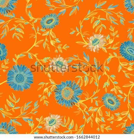 elegant seamless pattern of