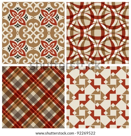 Elegant seamless pattern set.  This beautiful pattern can be used for wallpaper, pattern fills, web page background, surface textures.