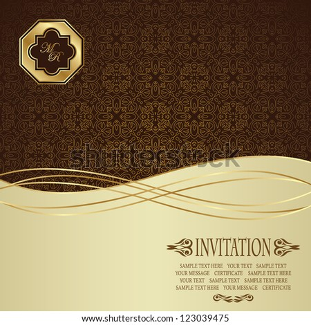 Elegant seamless wallpaper. Can be used as greeting card or invitation