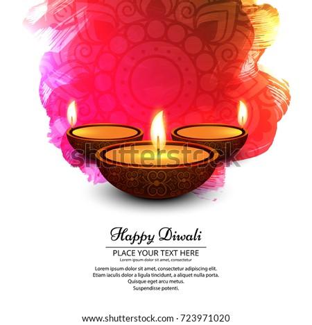elegant shiny diwali festival
