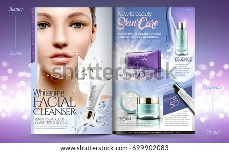 elegant skin care brochure