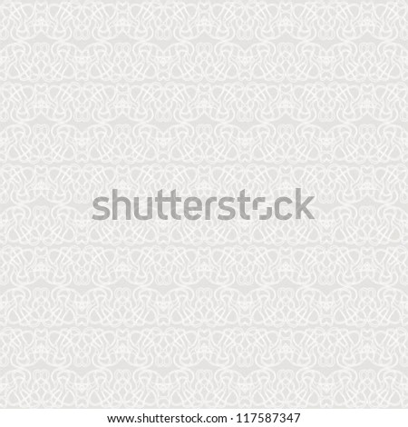 Elegant stylish background with barely visible hand drawn lines in silver, seamless vector pattern website or wedding invitation light background