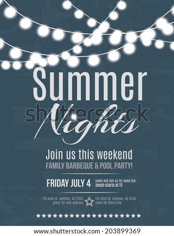 elegant summer night party
