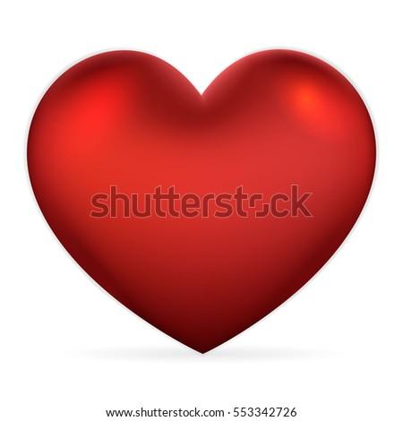 elegant symbol of red heart on