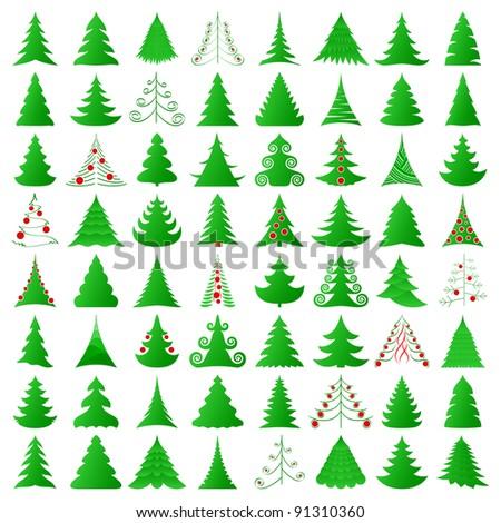 elegant symbolic Christmas trees collection