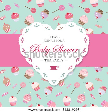 Elegant Template With Lacy Cutout Heart Tea Party Invitation Can