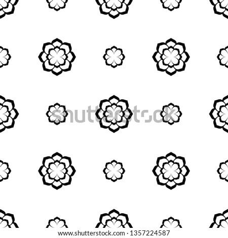elegant tiny flower motif in