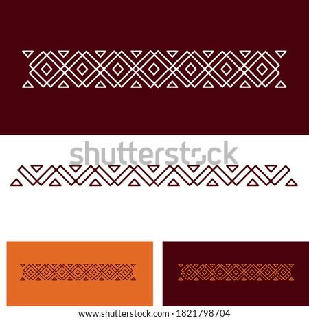 Elegant traditional old Arabian middle eastern Sadu vector design