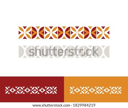 Elegant traditional old Arabian middle eastern Sadu vector design Stock fotó ©