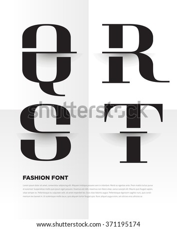 elegant typographic alphabet in