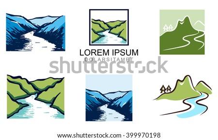 Shutterstock Elegant Valley River Logo Template