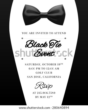 Royalty free stock photos and images elegant vector black tie event elegant vector black tie event invitation stopboris Image collections