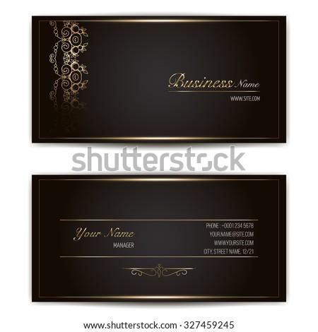 elegant vector business card