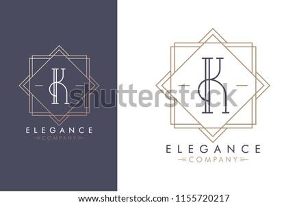 Luxury Line Logo For Letter K Download Free Vector Art Stock